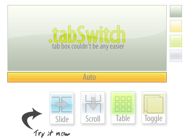 tabSwitch, tabs browsing con un plugin jQuery