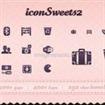 Un fornitissimo set di Icone vettoriali : iconSweets2