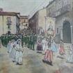 1990 – Frigento – Processione – Olio su Tela