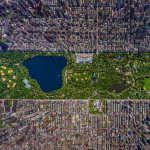 New York City's Central Park dall'alto, impressionante