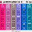 I 10 comandamenti della tipografia.