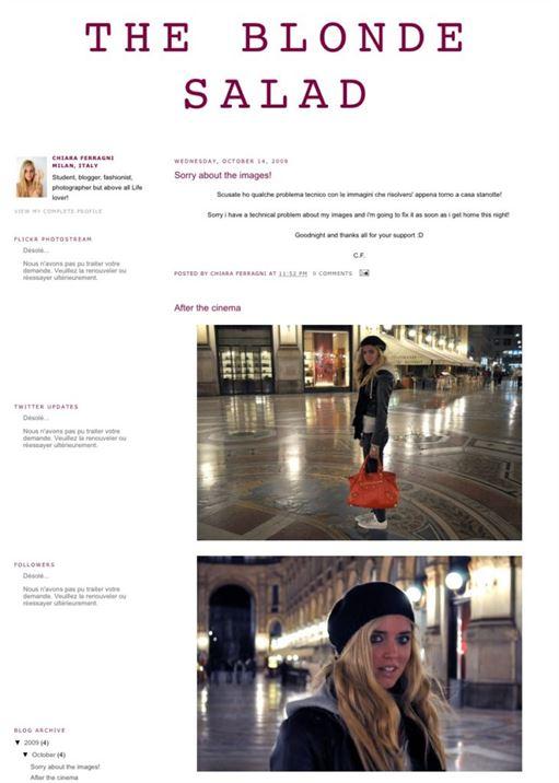 Chiara Ferragni il primo blog