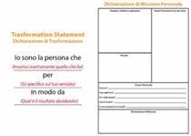 Dichiarazione di Trasformazione e Dichiarazione di Missione Personale