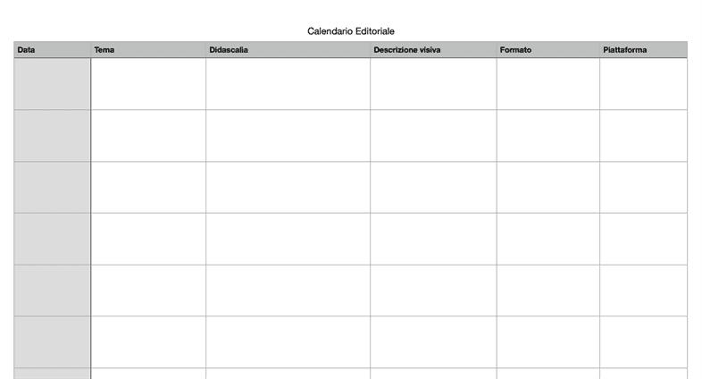 Come costruire un Personal Brand: Calendario Editoriale