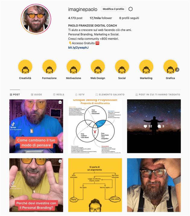 Profilo instagram Paolo Franzese