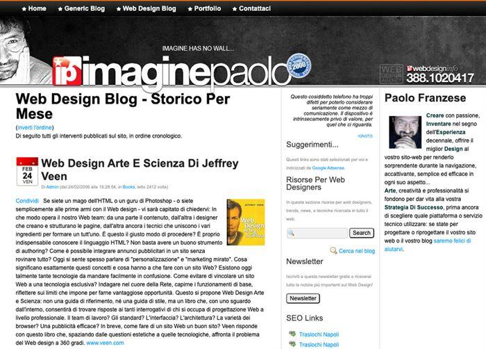 Come guadagnare con un blog immagine del mio primo blog