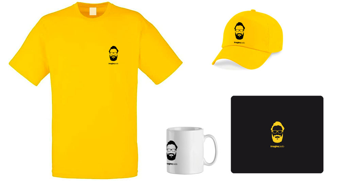 T-Shirt, tazza, cappello, mouse-pad
