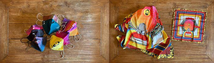 Mascherine, foulard e fazzoletto da taschino