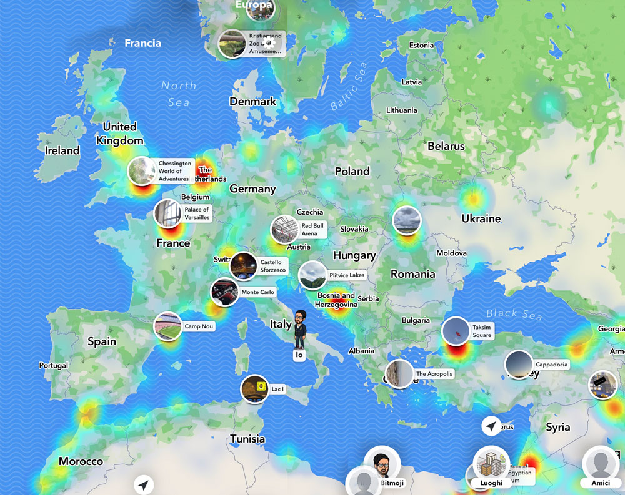 La cartina di snapchat